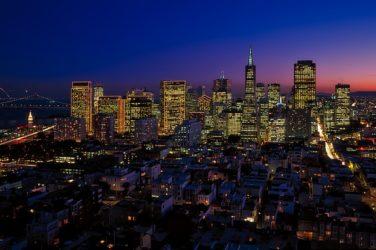 City of California at night