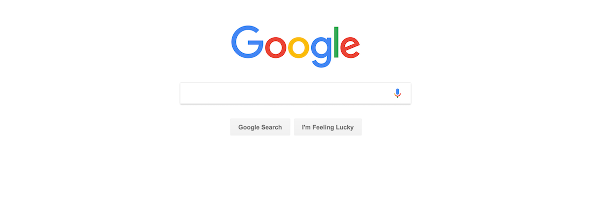 Front page of Google