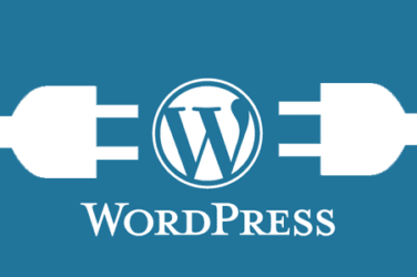 Wordpress logo in between two connectors
