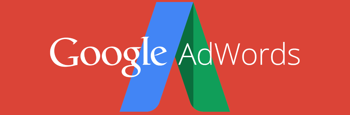 Google Adwords logo on red background