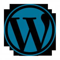 WordPress logo flat