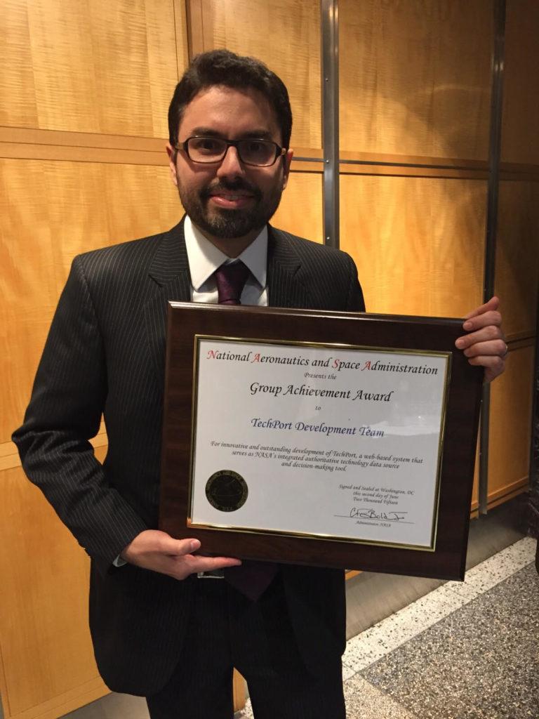 Luis Cuellar NASA award