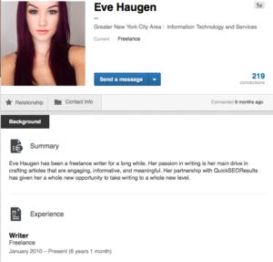 fake linkedin profile
