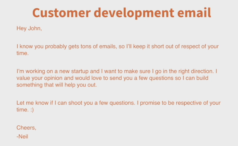Email template to effectively ask for feedback