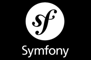 Logo of symfony on black background
