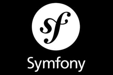 Logo of symfony on black background