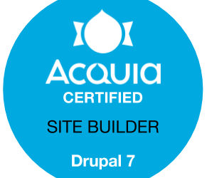 Acquia certified drupal 7 D7 site builder