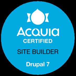 Acquia certified drupal 7 D7 site builder