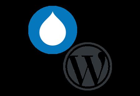 wordpress and drupal