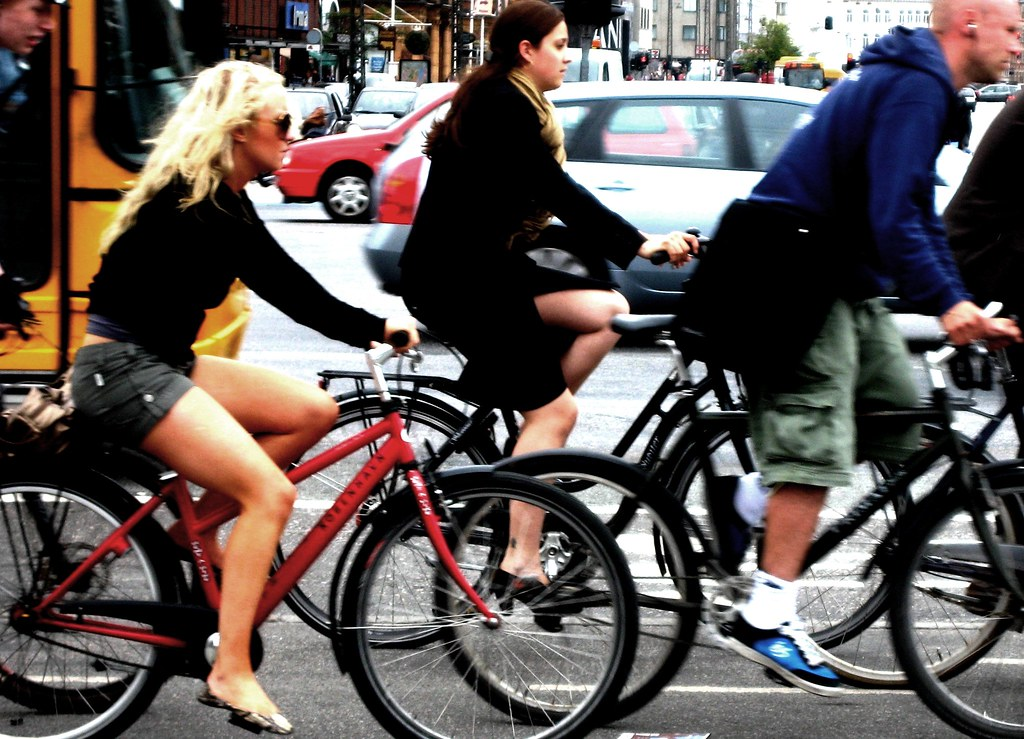 rush hour on bicycles