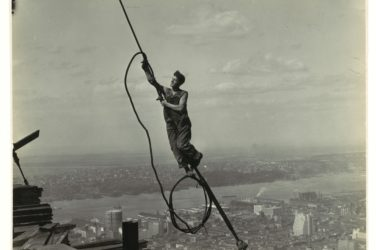 working on empire state building