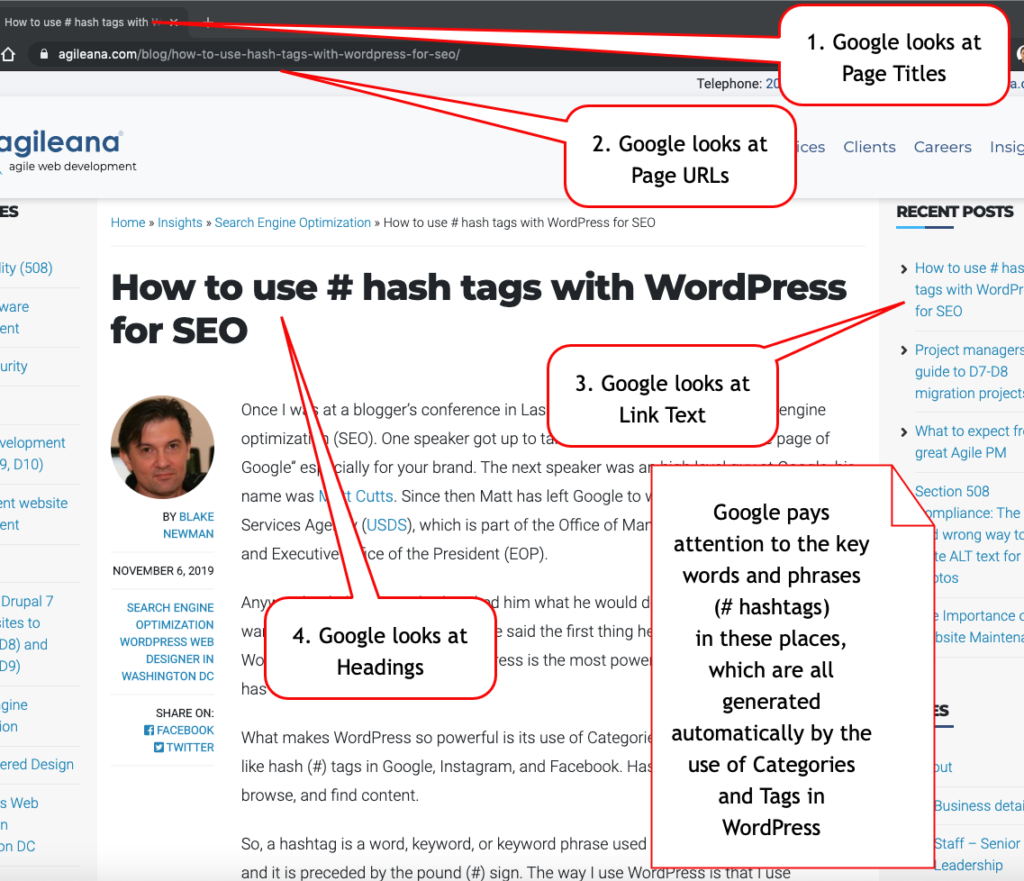 How to use hash (#) tags in WordPress for SEO to rank higher on Google search engines