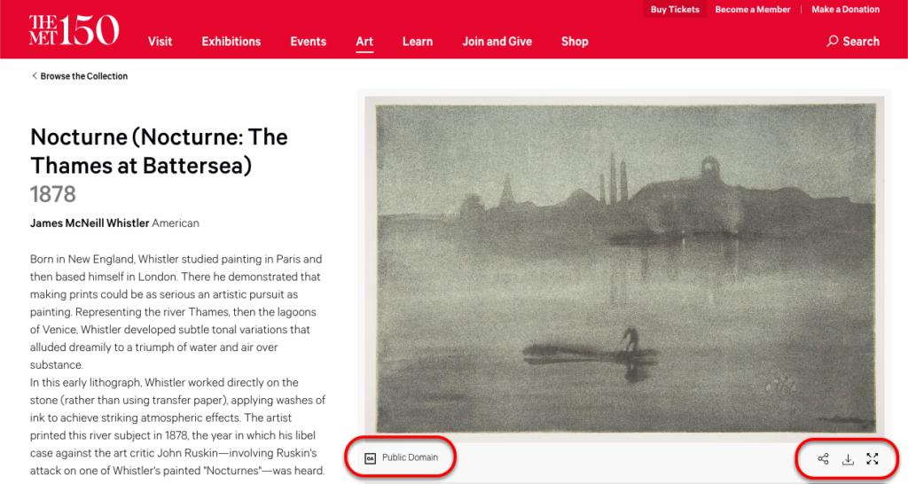 Metropolitan Museum of Art - Nocturne: The Thames at Battersea image