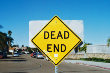 The dead end sign