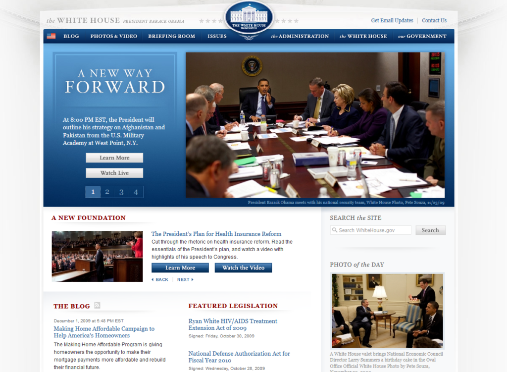 WhiteHouse.gov powered by Drupal.