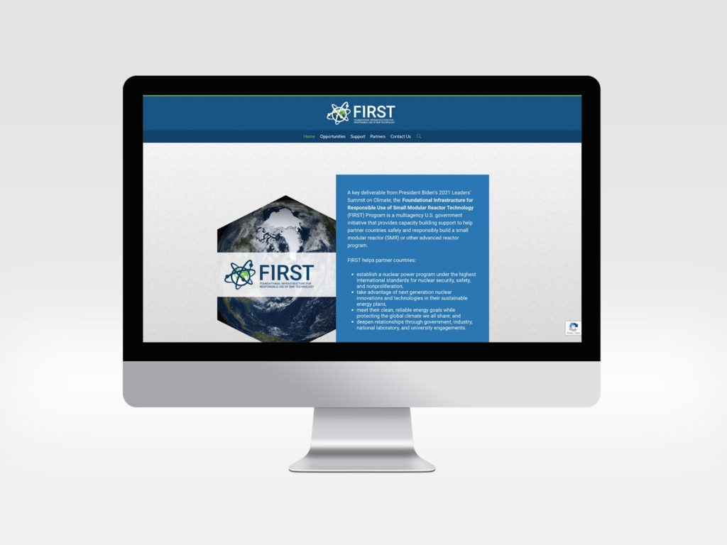 A mac computer monitor Displaying CRDF Global Website